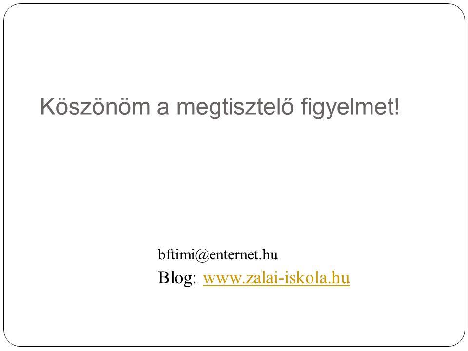 Köszönöm a megtisztelő figyelmet! bftimi@enternet.hu Blog: www.zalai-iskola.huwww.zalai-iskola.hu
