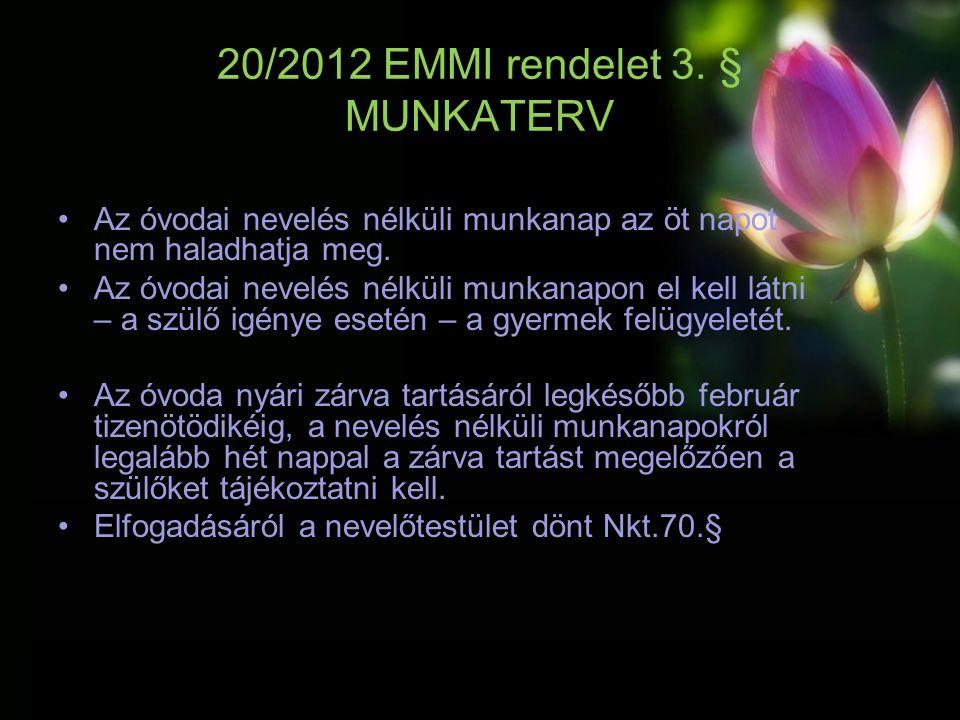 20/2012 EMMI rendelet 3.