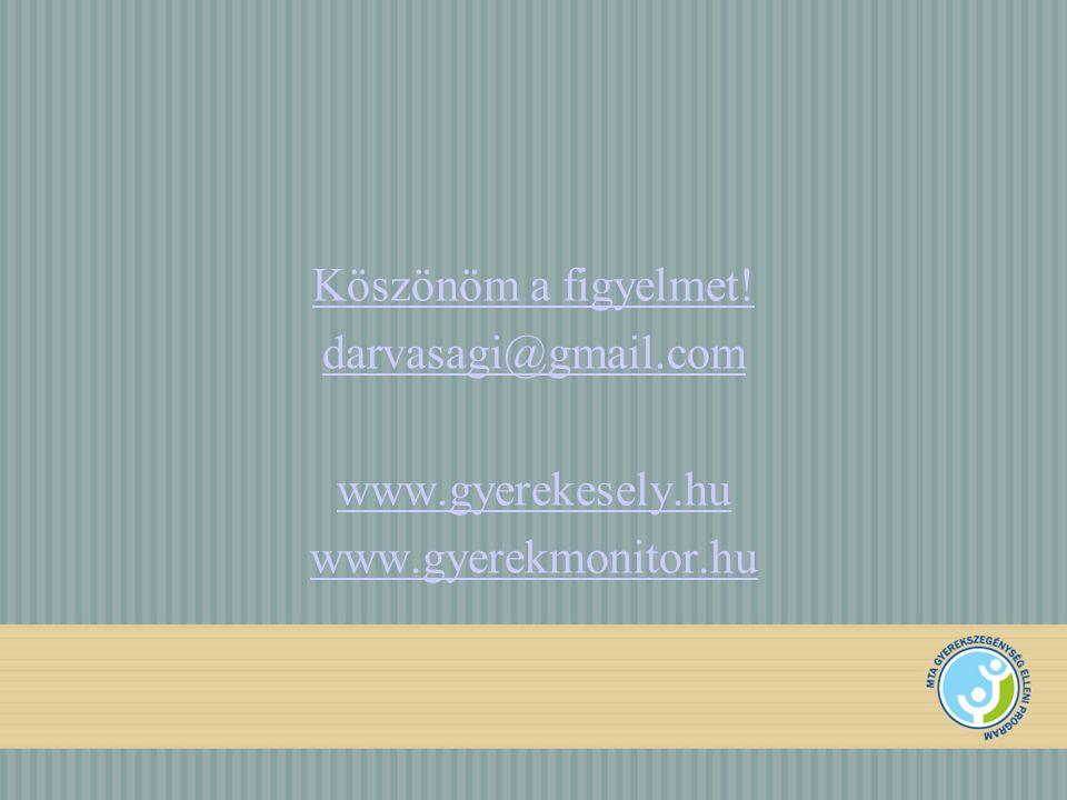 Köszönöm a figyelmet! darvasagi@gmail.com www.gyerekesely.hu www.gyerekmonitor.hu