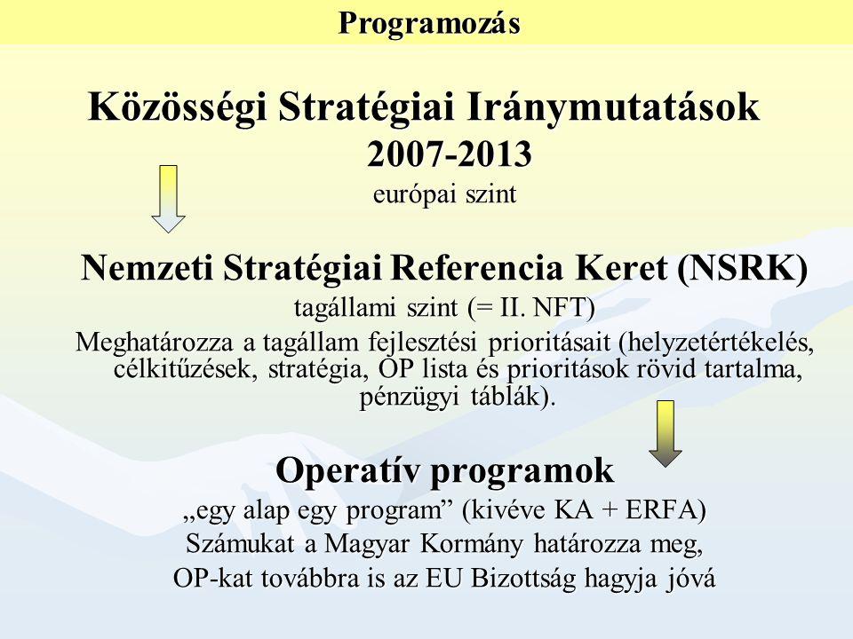 Regionális programok –Alapszolgáltatások (oktatási, egészségügyi, szociális) –Komplex térségfejlesztés (romák által lakott, szegregált térségek) –Hozzáférés fejlesztése (pl.
