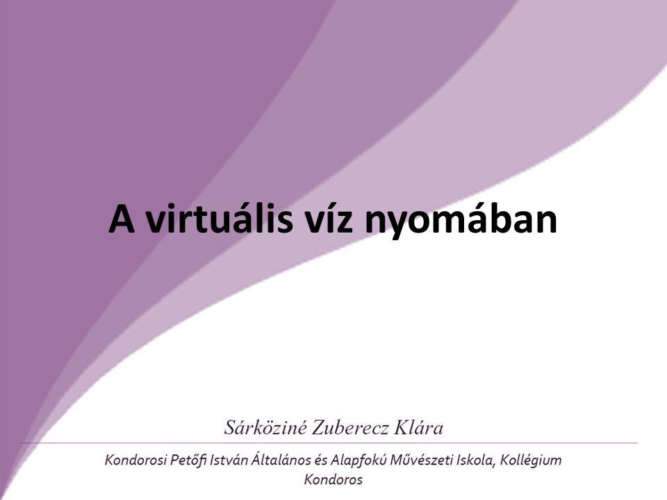 A virtuális víz nyomában