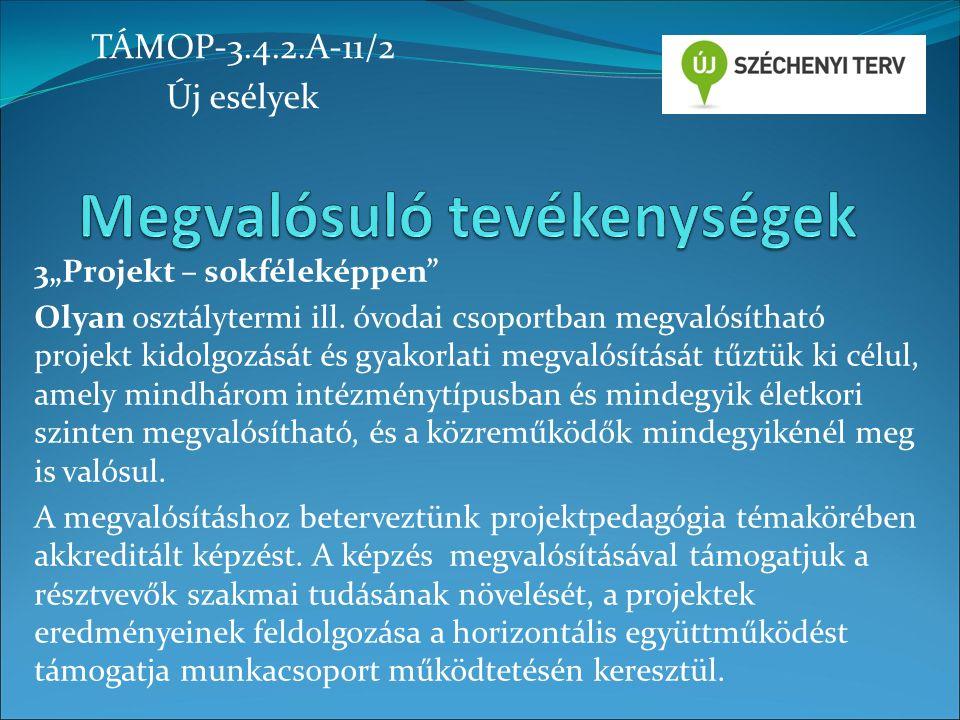 2012. november 1-tő l 2014. június 30-ig TÁMOP-3.4.2.A-11/2 Új esélyek