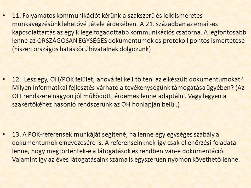 11. Folyamatos kommunikációt kérünk a szakszerű és lelkiismeretes munkavégzésünk lehetővé tétele érdekében. A 21. században az email-es kapcsolattartá