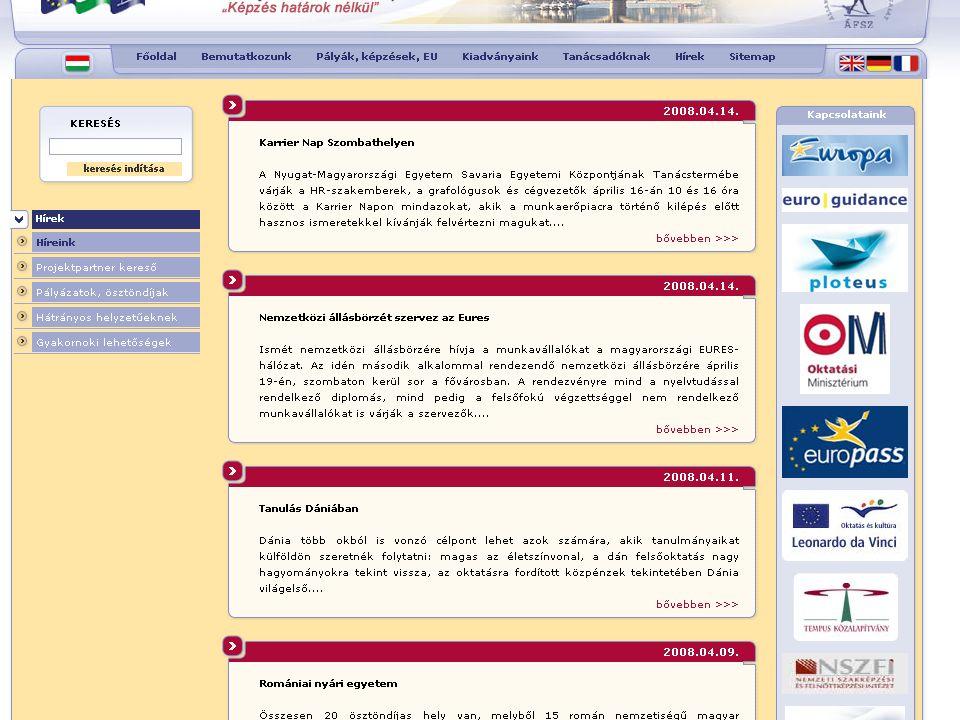 Külföldi ösztöndíj lehetőségek Gyakornoki programok