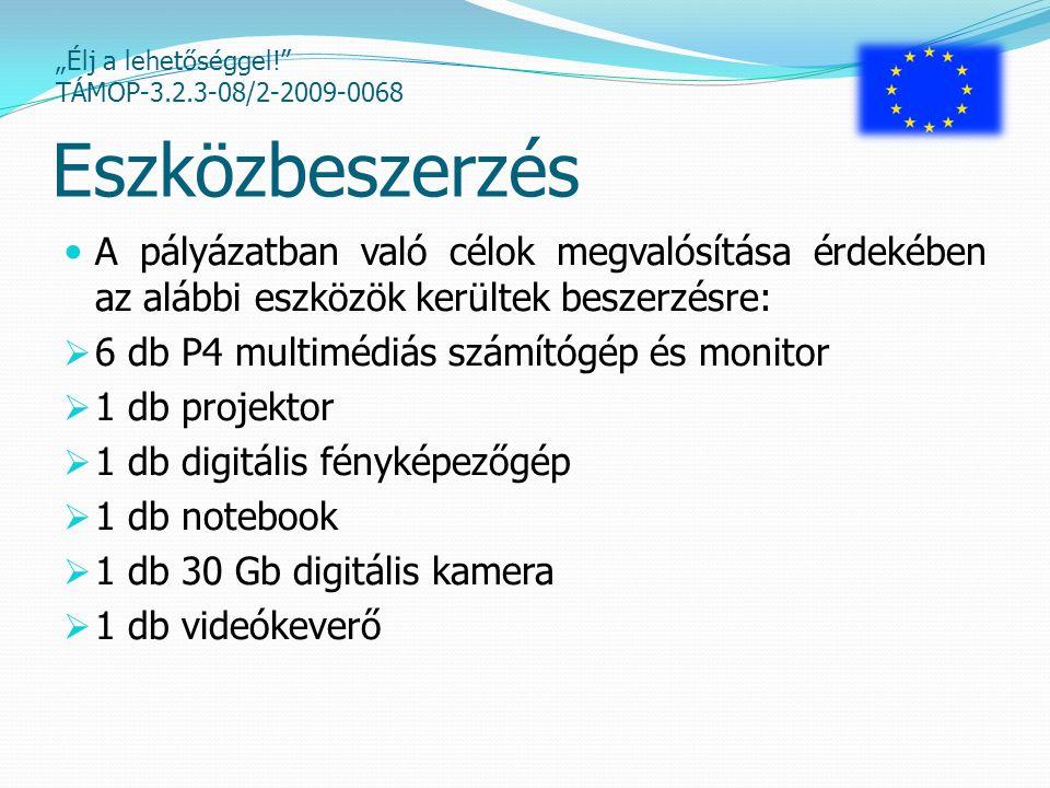 """""""Élj a lehetőséggel! TÁMOP-3.2.3-08/2-2009-0068 Demokratikus jogok foglalkozás Kiscsoportos (8 fő) foglalkozás keretében interaktív ismeretátadás a demokratikus magatartás, a demokratikus alapkészségek és személyi jogok megismerése érdekében."""