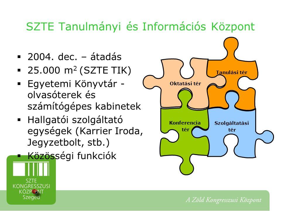 SZTE Tanulmányi és Információs Központ  2004. dec.
