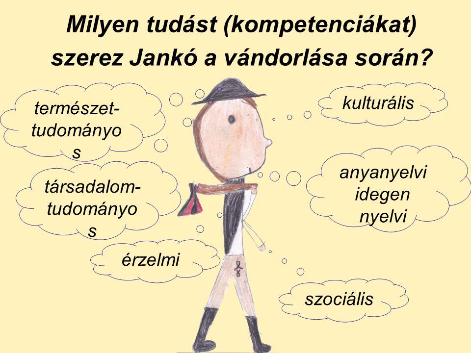 Milyen tudást (kompetenciákat) szerez Jankó a vándorlása során.