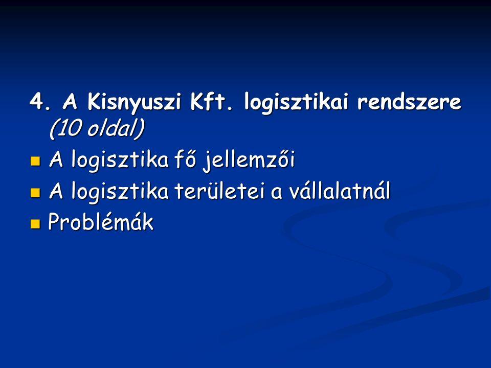 4. A Kisnyuszi Kft.