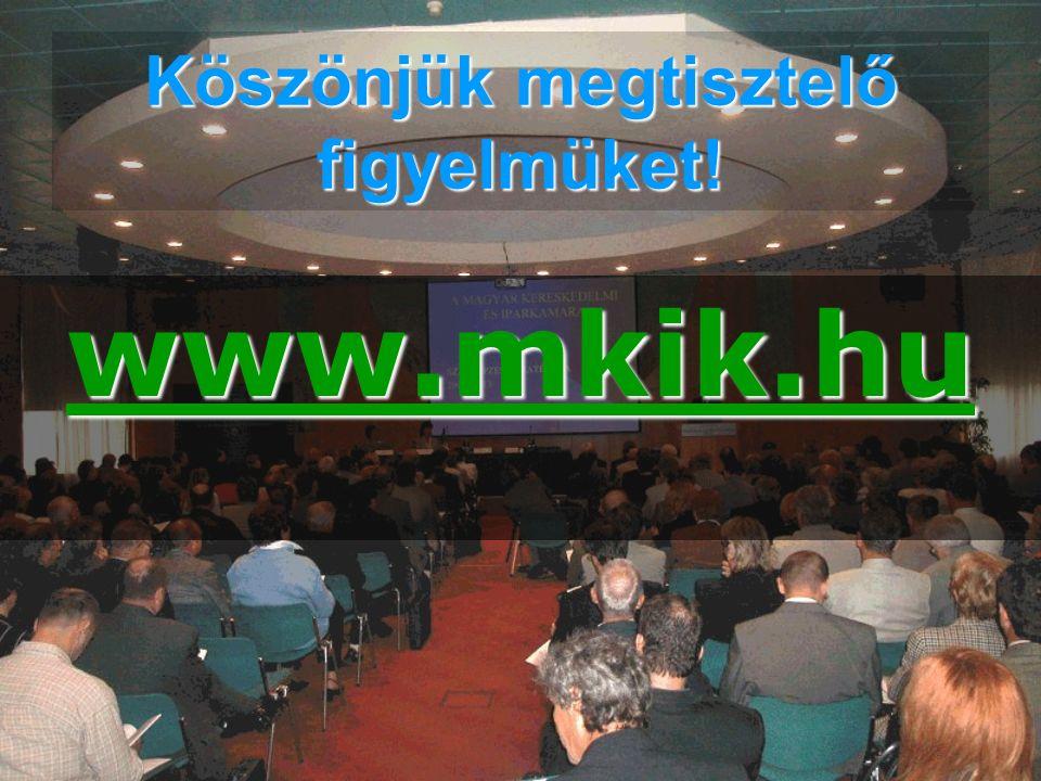 Köszönjük megtisztelő figyelmüket! www.mkik.hu