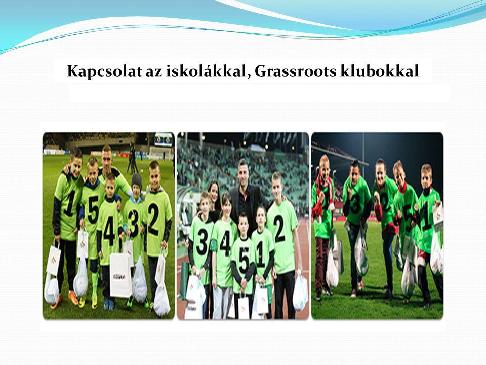 Kapcsolat az iskolákkal, Grassroots klubokkal