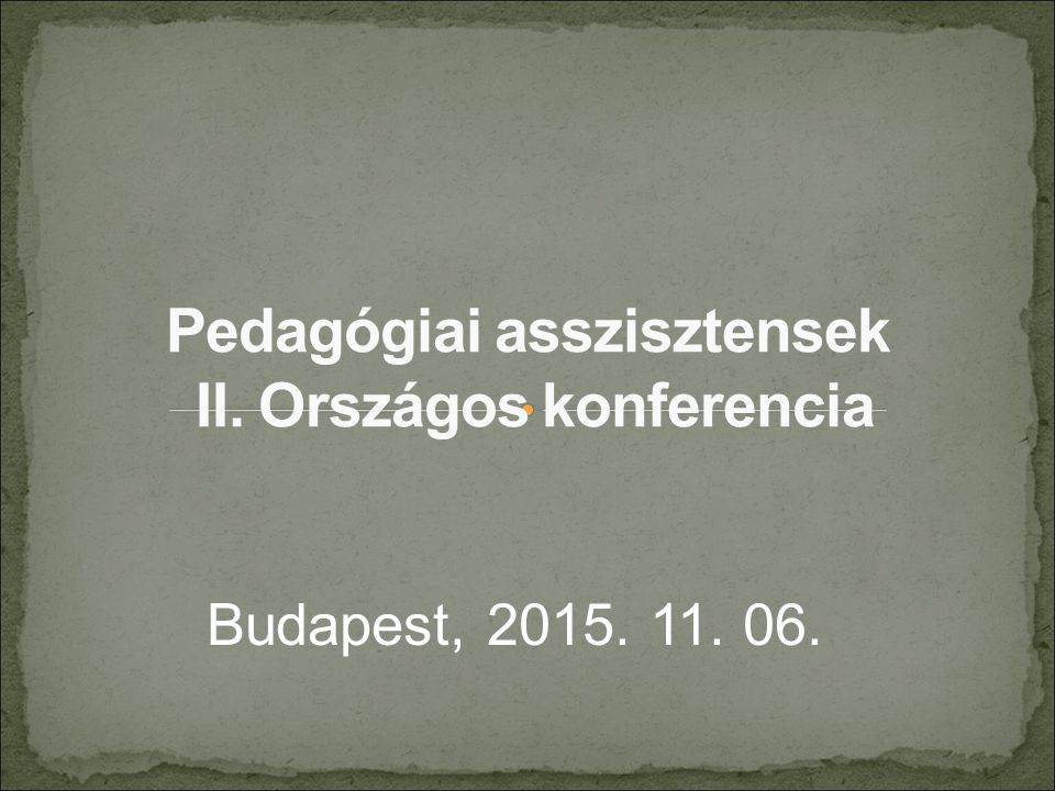 Budapest, 2015. 11. 06.