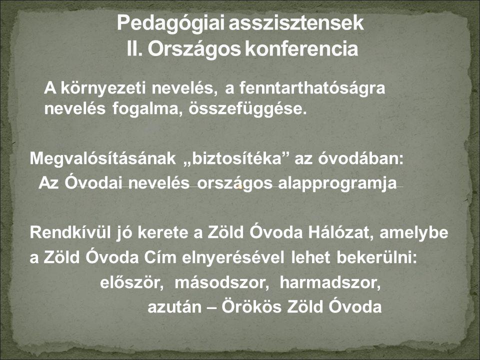 II.Gyermekkép, óvodakép II.2.