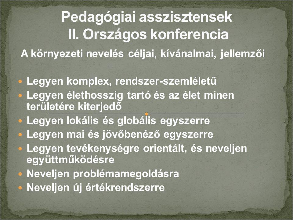 A fenntarthatóság pedagógiai tartalma 1.