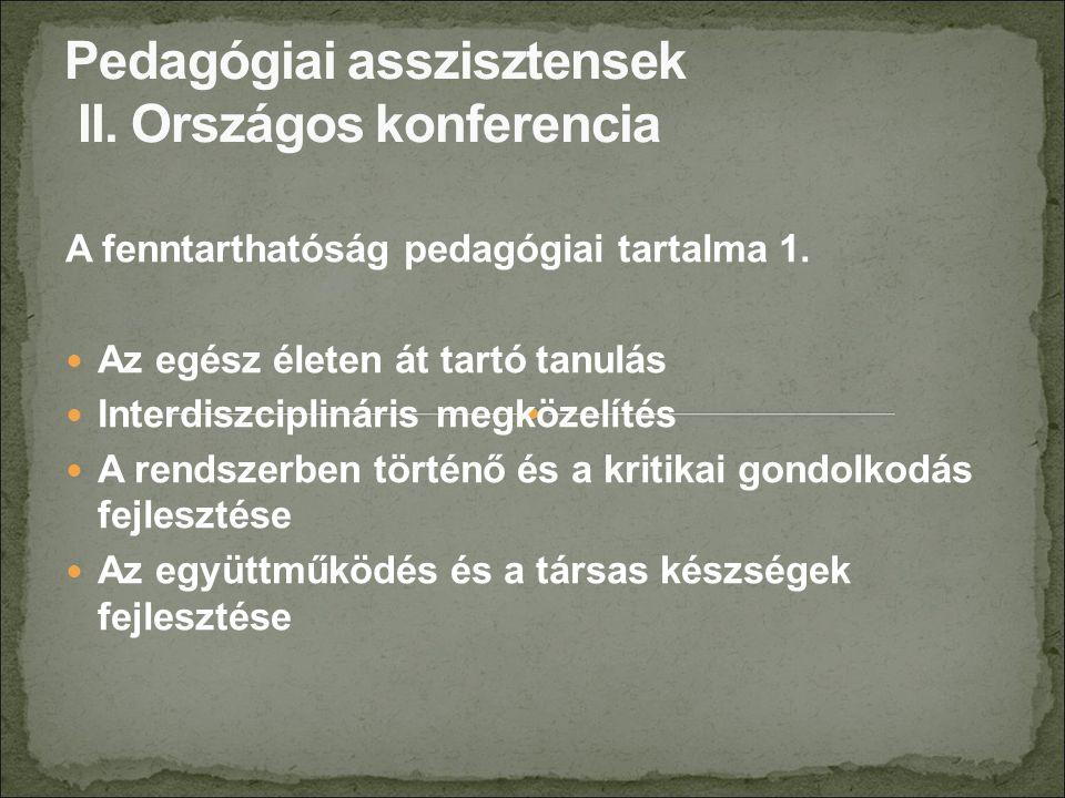 A fenntarthatóság pedagógiai tartalma 2.