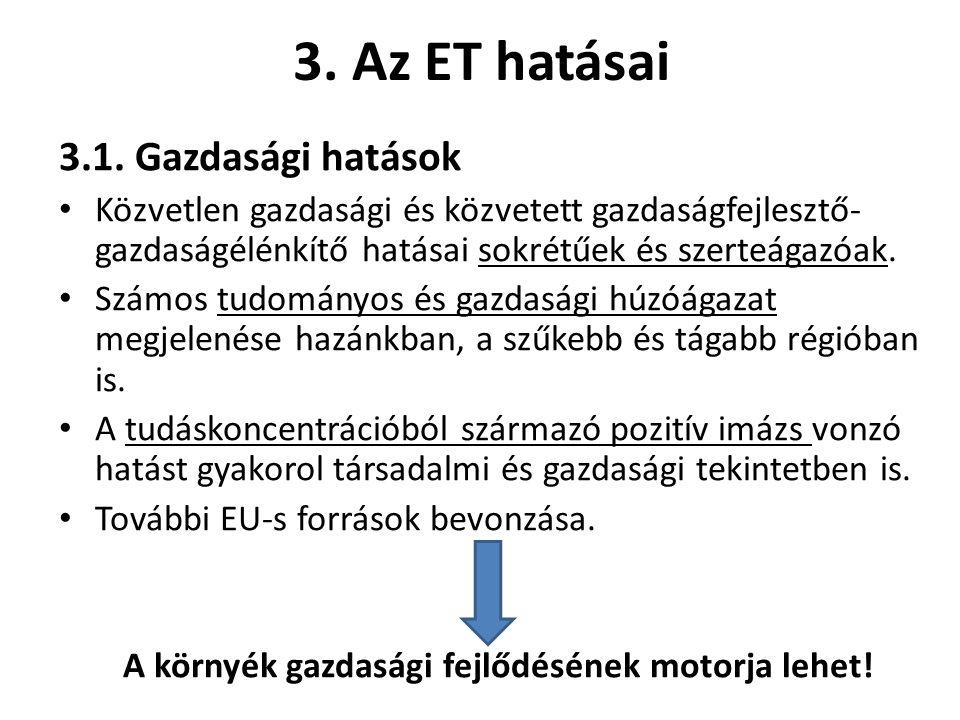 3. Az ET hatásai 3.1.