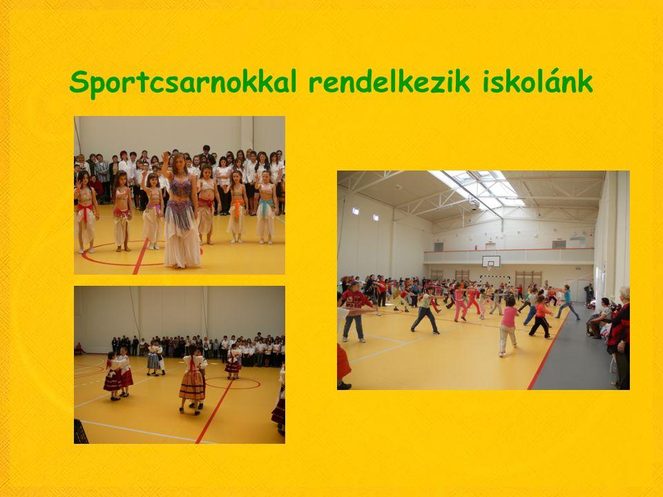 Sportcsarnokkal rendelkezik iskolánk