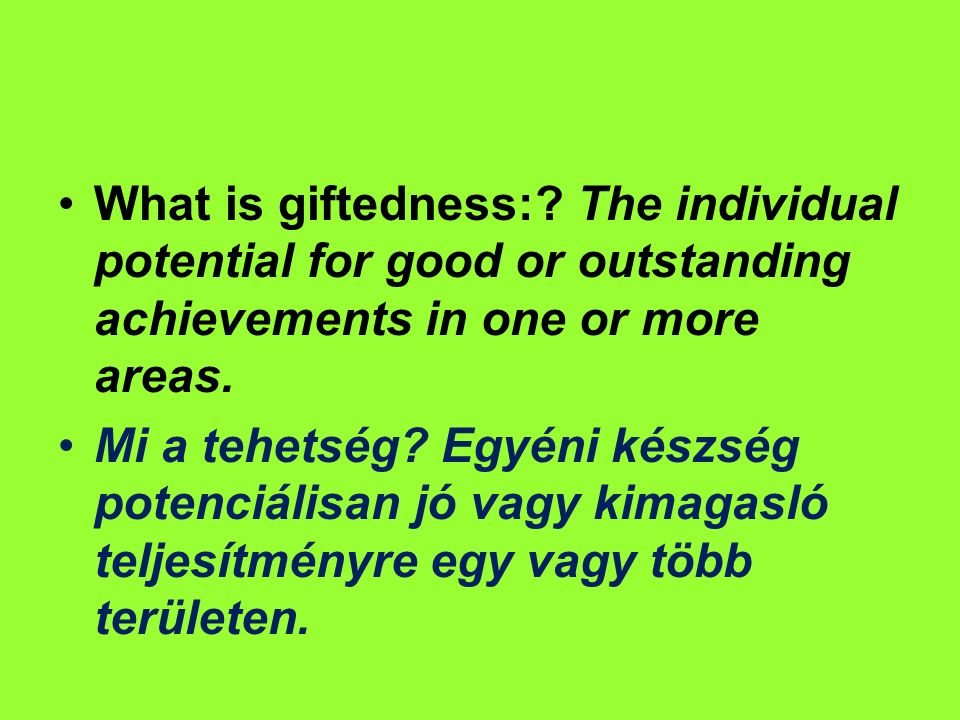 What is giftedness:.
