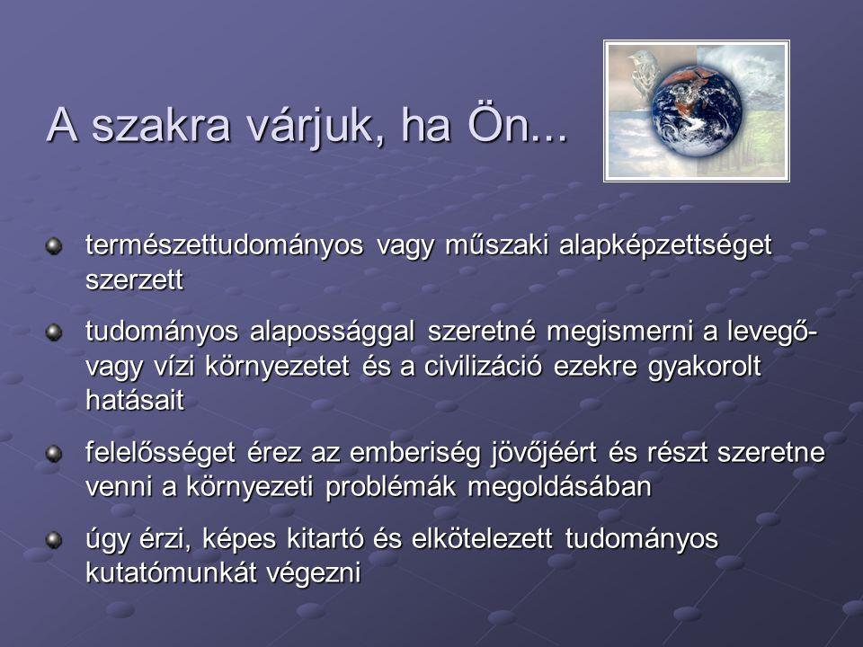Elérhetőségeink Föld-és Környezettudományi Intézeti Tanszék 8200 Veszprém, Egyetem u.