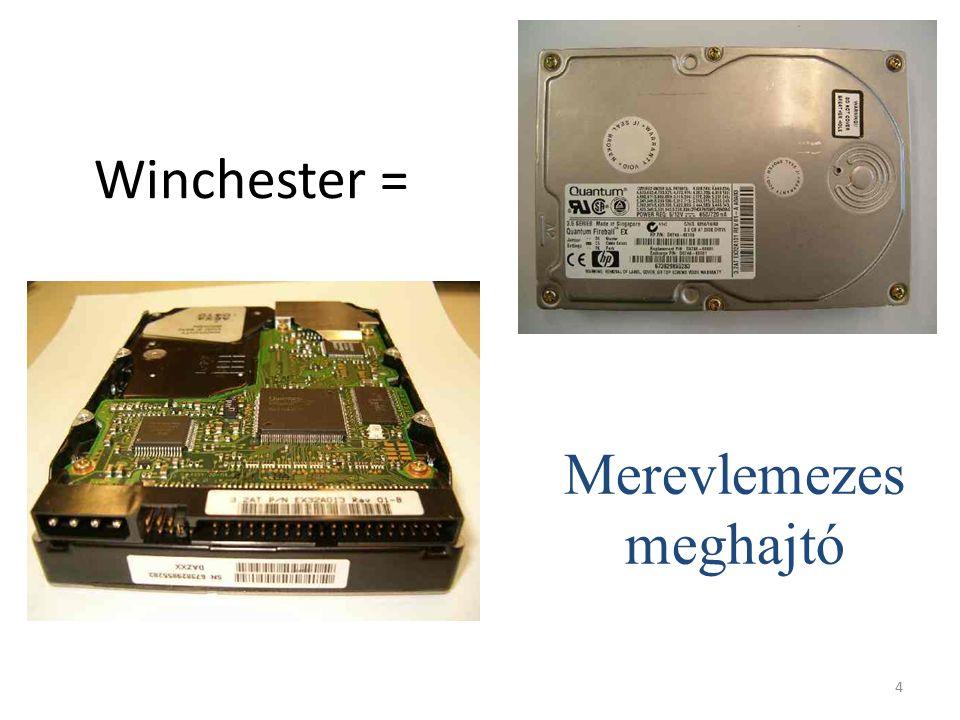 4 Winchester = Merevlemezes meghajtó