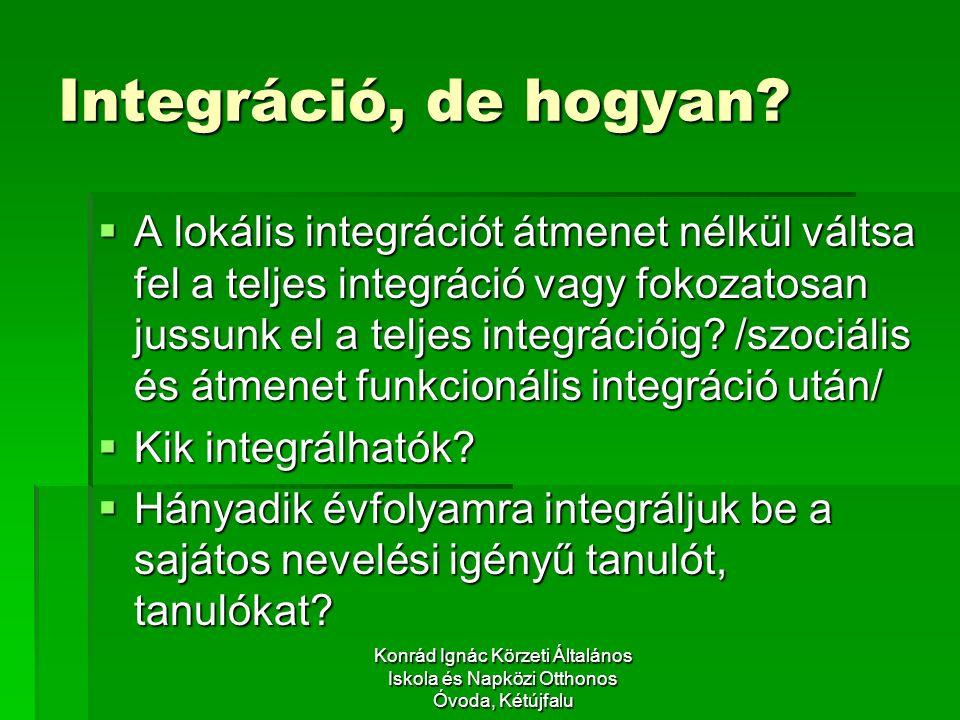 Konrád Ignác Körzeti Általános Iskola és Napközi Otthonos Óvoda, Kétújfalu Integráció, de hogyan.