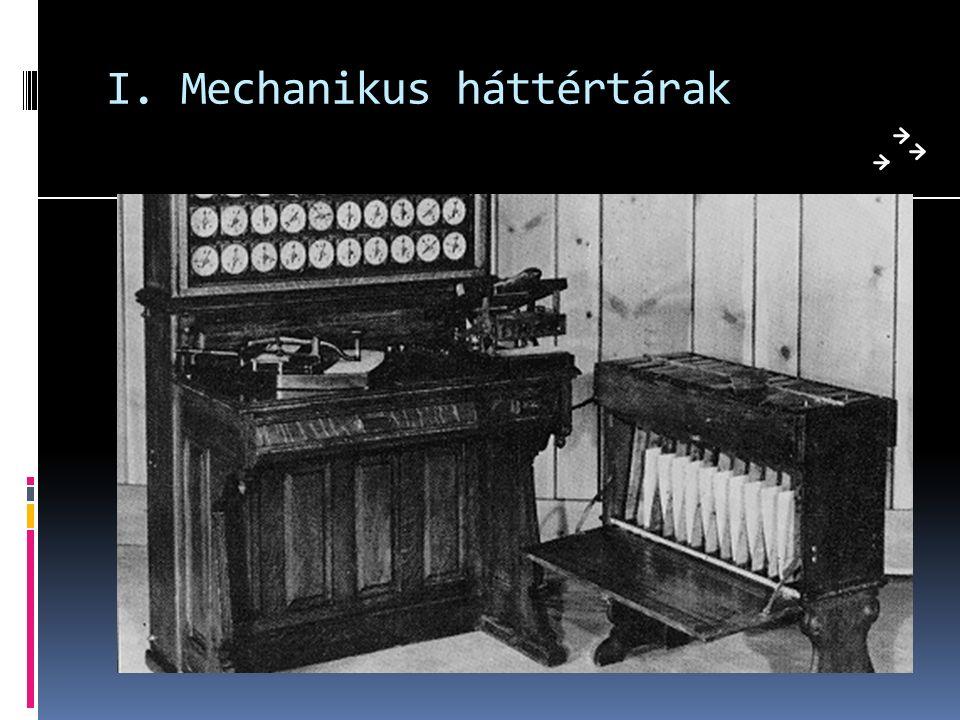 I. Mechanikus háttértárak