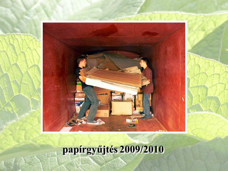 papírgyűjtés 2009/2010