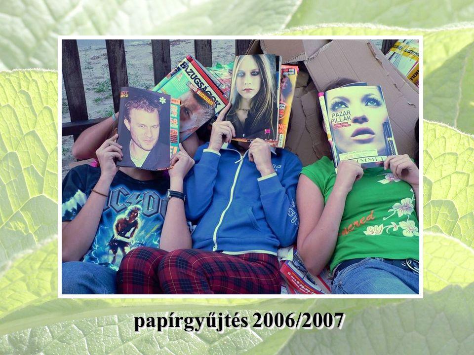 papírgyűjtés 2006/2007