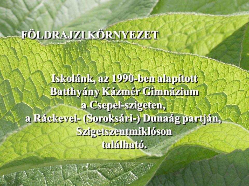 Iskolánk, az 1990-ben alapított Batthyány Kázmér Gimnázium a Csepel-szigeten, a Ráckevei- (Soroksári-) Dunaág partján, Szigetszentmiklósontalálható.