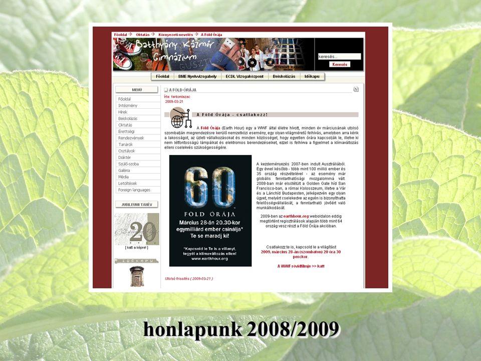 honlapunk 2008/2009