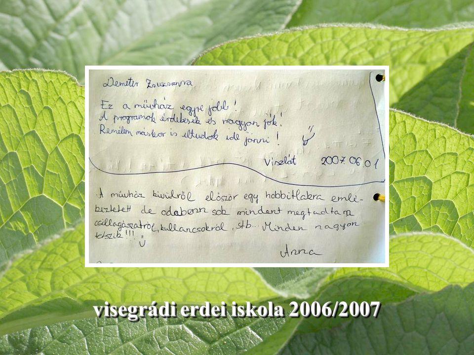 visegrádi erdei iskola 2006/2007