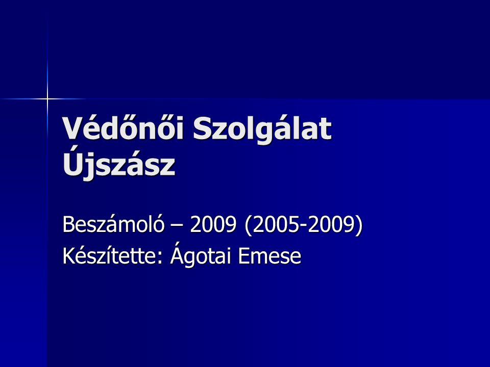 Védőnői Szolgálat Újszász Beszámoló – 2009 (2005-2009) Készítette: Ágotai Emese