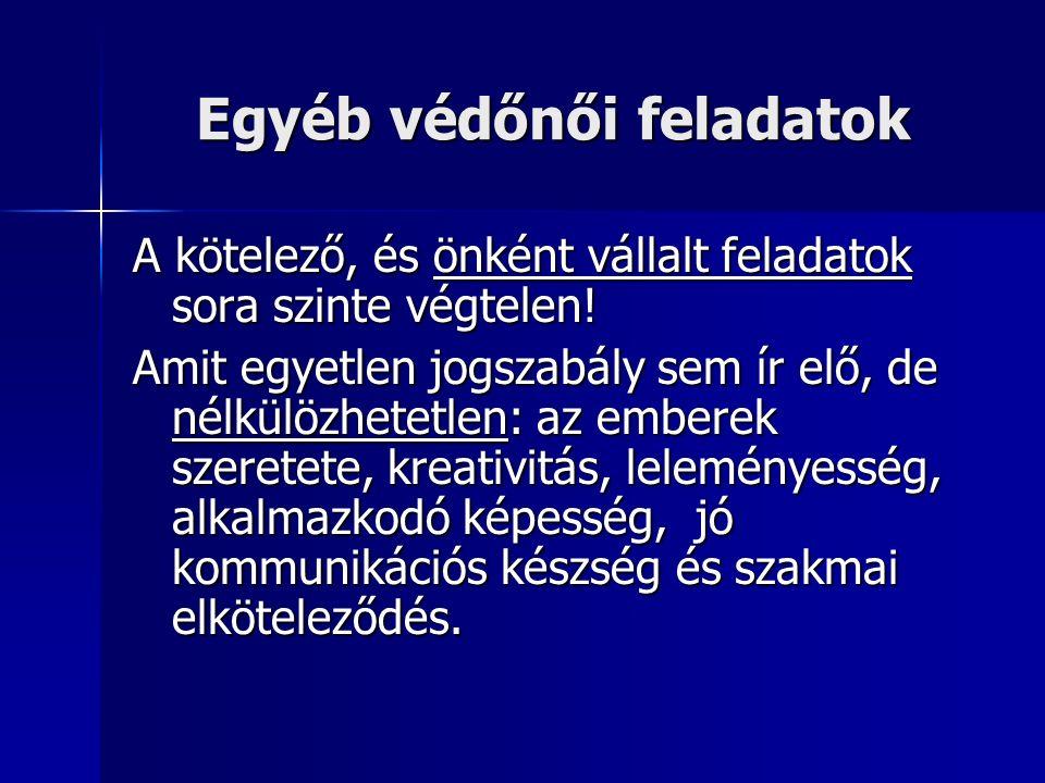 Védőnői szolgálat működése 2005.01 – 2007. 07 Védőnői státuszok Molnár Dezsőné II.