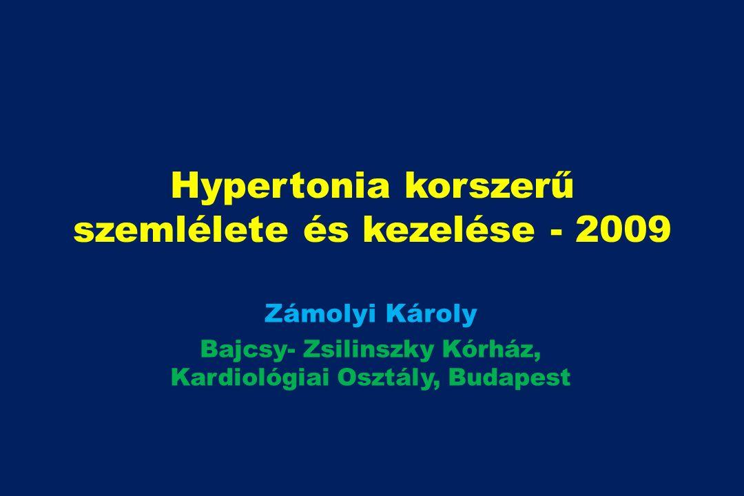 Hypertonia korszerű szemlélete és kezelése - 2009 Zámolyi Károly Bajcsy- Zsilinszky Kórház, Kardiológiai Osztály, Budapest