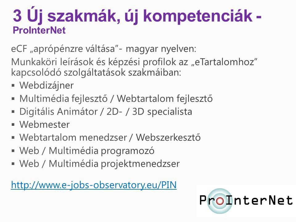 3 Új szakmák, új kompetenciák - ProInterNet
