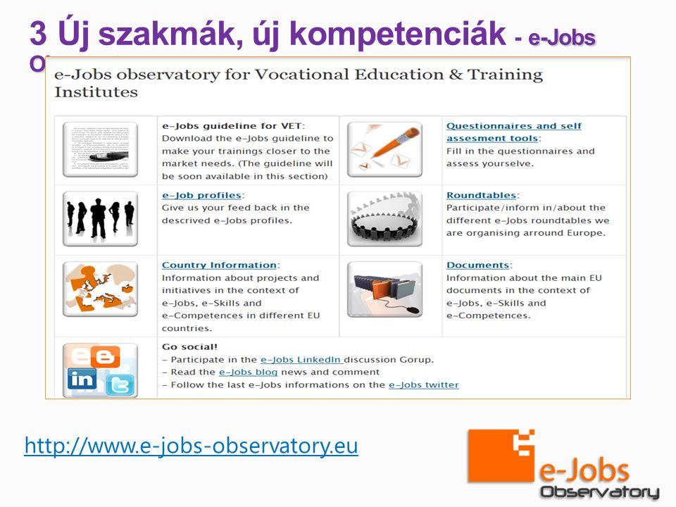 e-Jobs Observatory 3 Új szakmák, új kompetenciák - e-Jobs Observatory