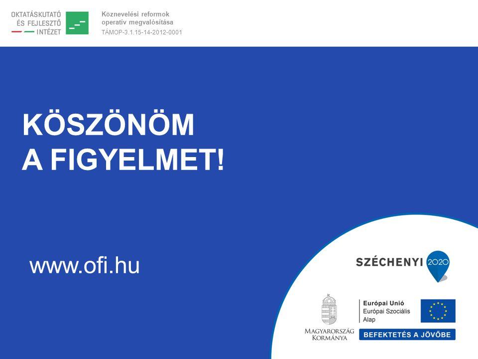 Köznevelési reformok operatív megvalósítása TÁMOP-3.1.15-14-2012-0001 KÖSZÖNÖM A FIGYELMET.
