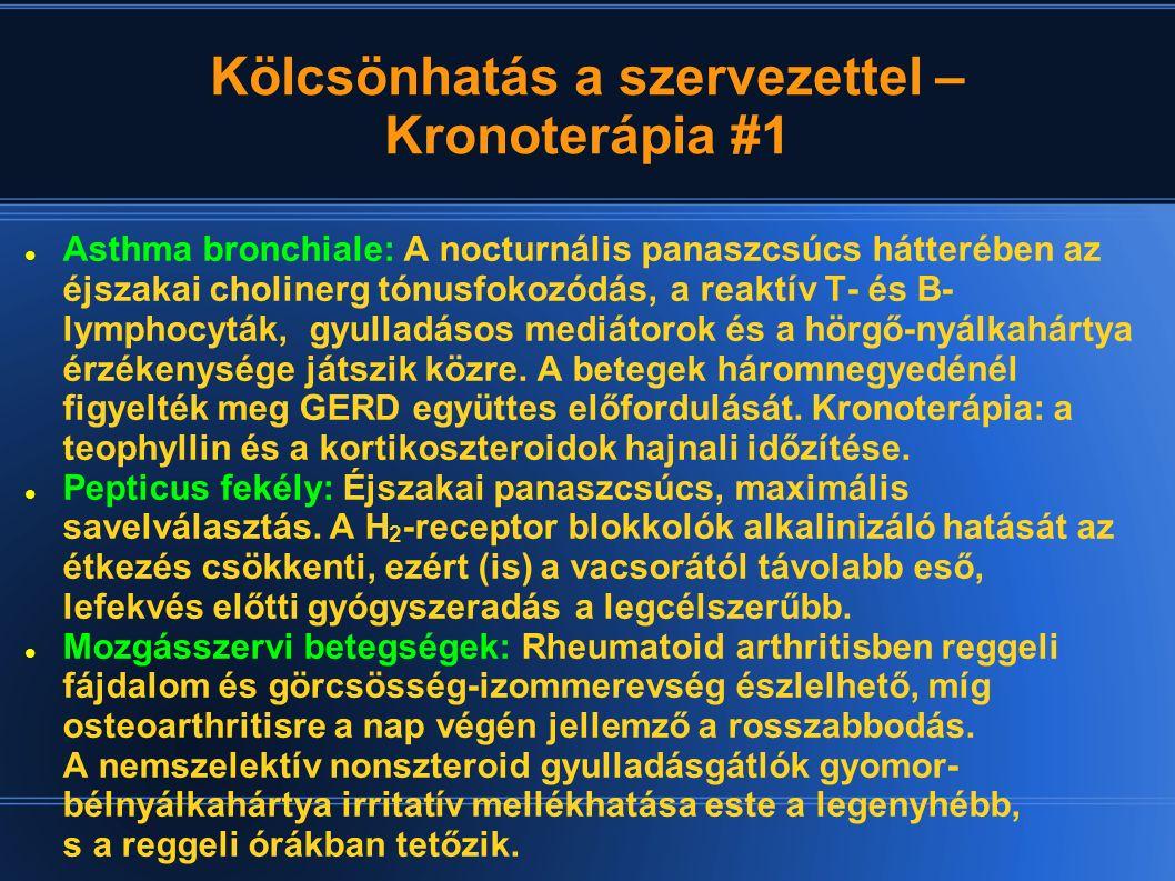 Kölcsönhatás a szervezettel – Kronoterápia #1 Asthma bronchiale: A nocturnális panaszcsúcs hátterében az éjszakai cholinerg tónusfokozódás, a reaktív