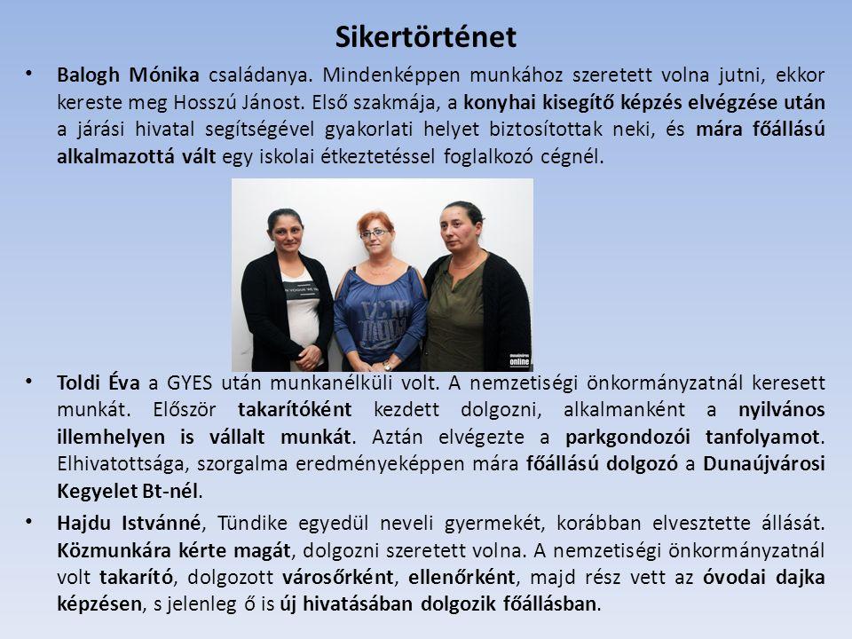 Balogh Mónika családanya.