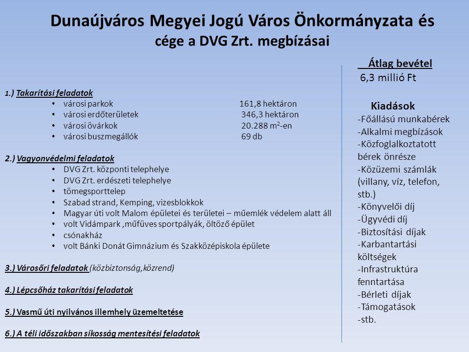 Dunaújváros Megyei Jogú Város Önkormányzata és cége a DVG Zrt.