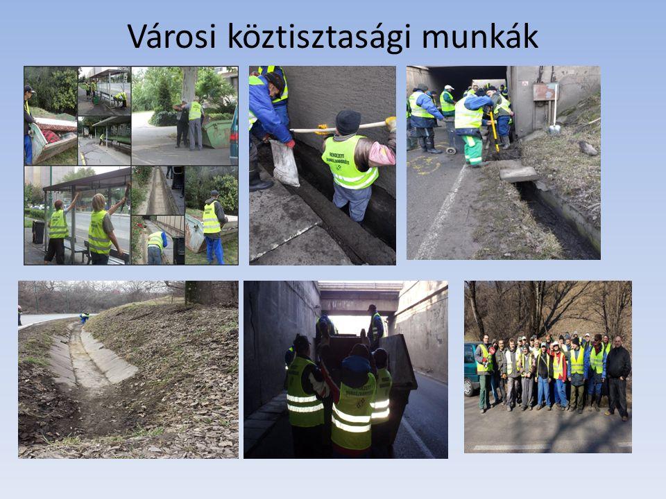 Városi köztisztasági munkák