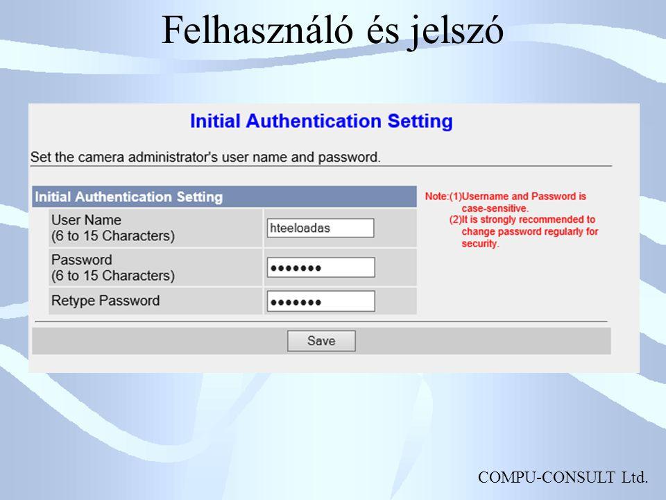 COMPU-CONSULT Ltd. Felhasználó és jelszó