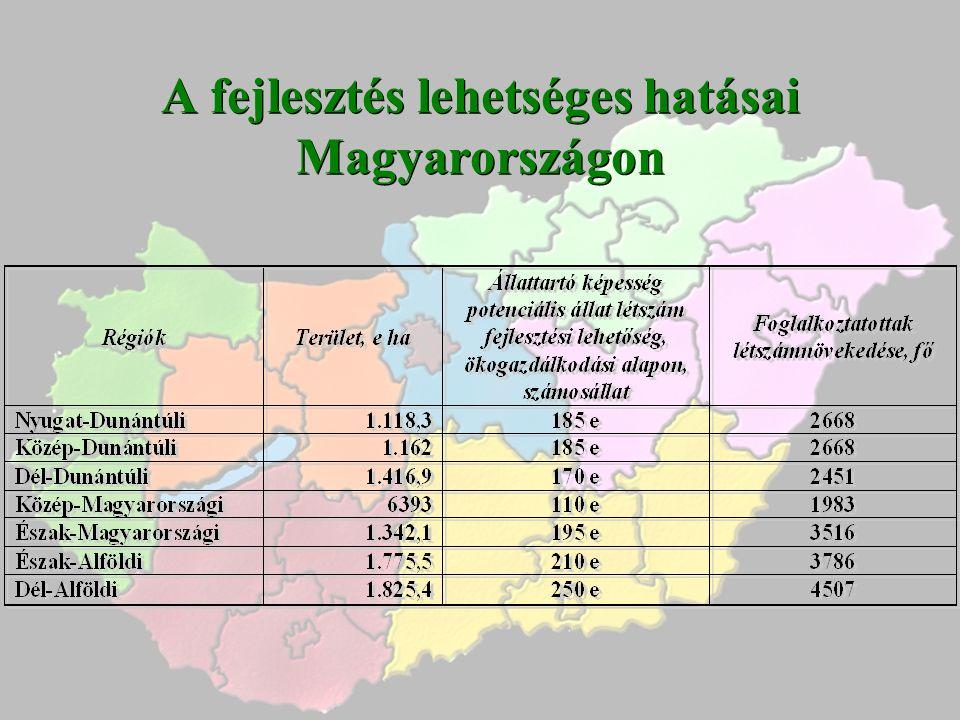 A fejlesztés lehetséges hatásai Magyarországon