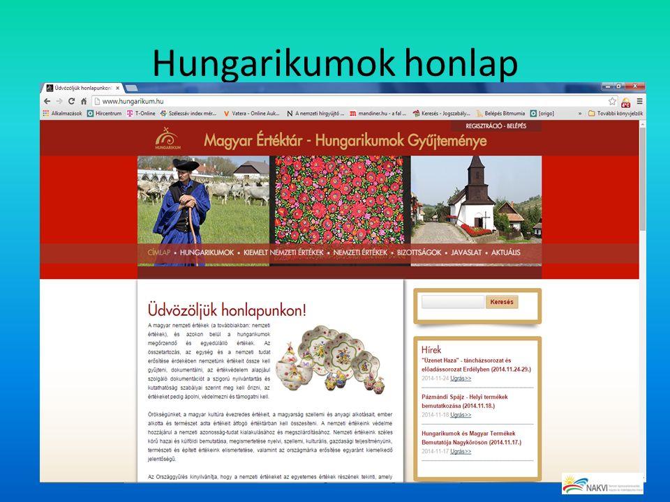 Hungarikumok honlap
