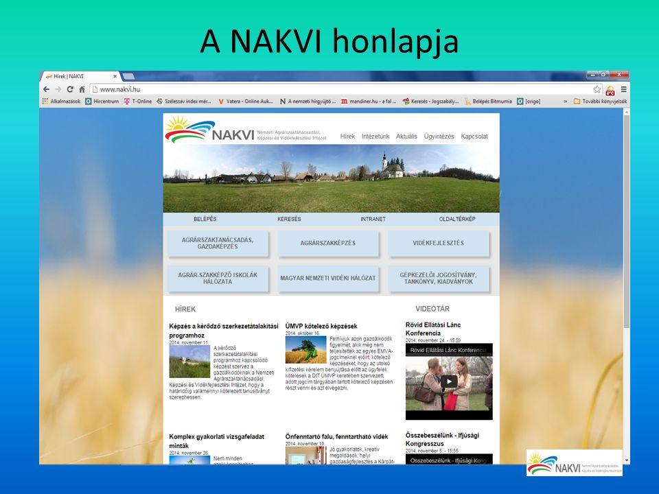 A NAKVI honlapja