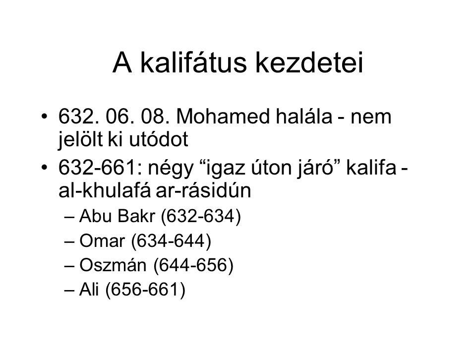 A kalifátus kezdetei 632. 06. 08.