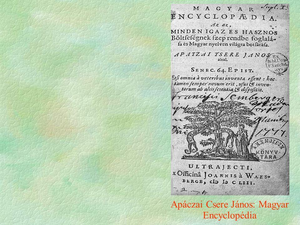 Apáczai Csere János: Magyar Encyclopédia