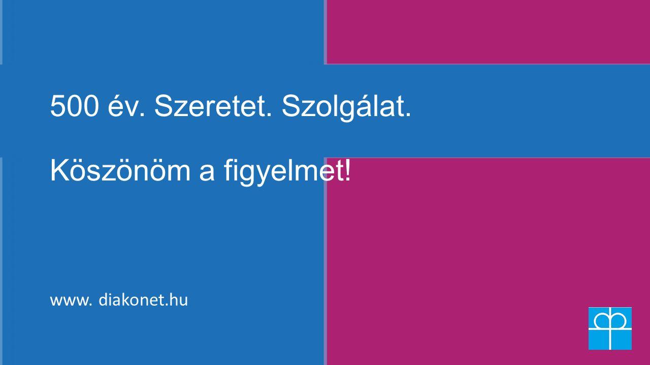 500 év. Szeretet. Szolgálat. Köszönöm a figyelmet! www. diakonet.hu
