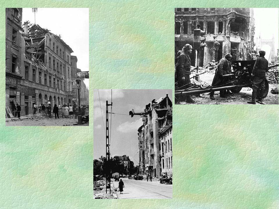 A rommá lőtt Budapest