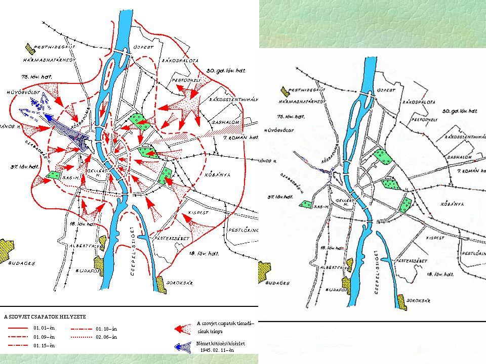  Hadműveletek:  1944.okt.6. - 29. Tiszántúli (Hortobágy) hadművelet  1944.