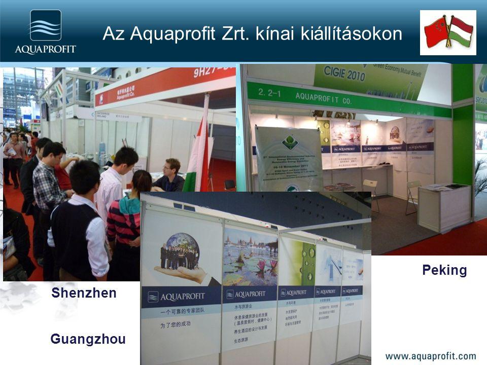 Shenzhen Peking Guangzhou Az Aquaprofit Zrt. kínai kiállításokon